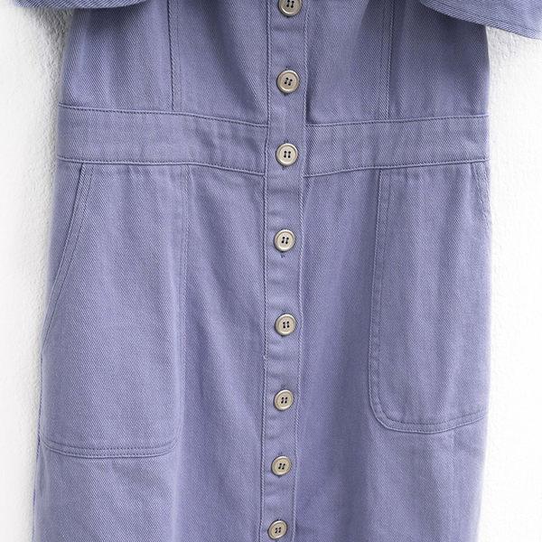 單一優惠價[H2O]吊帶可拆露肩兩穿彩色牛仔膝上洋裝 - 粉/淺藍/淺紫色 #9684002