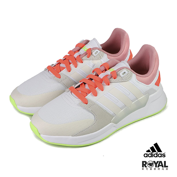 Adidas Run90s 米色 網布 慢跑運動鞋 女款NO.J0379【新竹皇家 EH2153】