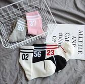 襪子女純棉中筒襪韓版學院風日系學生原宿兩條杠運動長筒潮襪5雙 韓幕精品