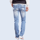 湛藍微刮破設計牛仔褲