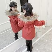 女童外套 後蝴蝶結設計保暖兒童外套