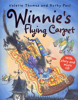 【麥克書店】WINNIE'S FLYING CARPET /英文繪本附CD《主題:萬聖節.幽默》(中譯:巫婆與黑貓)