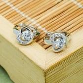 耳環 925純銀鑲鑽-大方時尚生日情人節禮物女飾品73ds87[時尚巴黎]