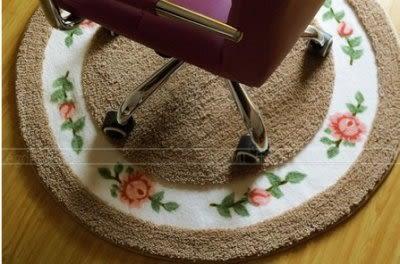 地毯圓型墊/電腦椅墊 駝色90公分【藍星居家】