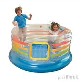圓形彈跳池大型跳跳床蹦蹦床跳跳樂充氣玩具充氣球池城堡 PA1324『pink領袖衣社』