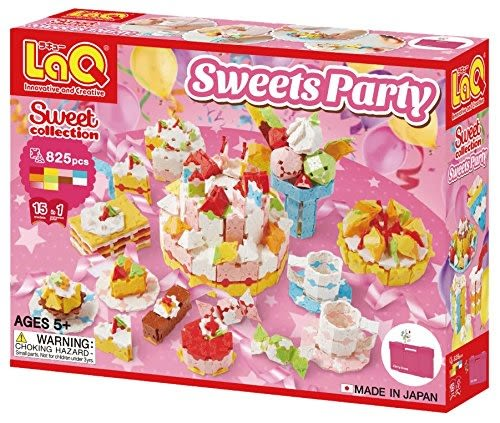 【LaQ sweet party 甜心派對】日本 七月新款 立體3D 拼接積木 玩具 益智桌遊遊戲【小福部屋】