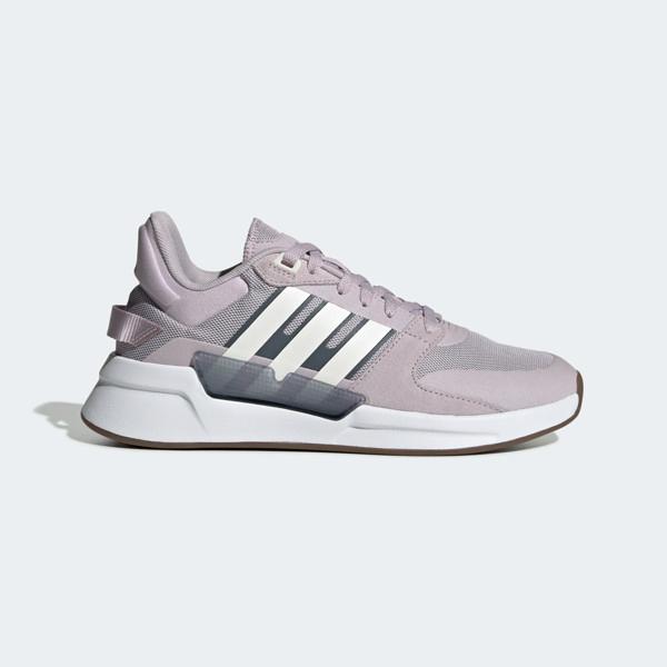 Adidas RUN90S [EF0200] 女鞋 運動 休閒 籃球 慢跑 透氣 避震 舒適 復古 愛迪達 穿搭 紫白