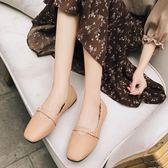 森女系圓頭單鞋懶人鞋女平底學生娃娃鞋休閒文藝女鞋 黛尼時尚精品