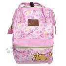 〔小禮堂〕拉拉熊 懶懶熊 兩用帆布後背包...