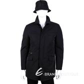 Fay 黑色口袋設計釦式大衣 1410225-01