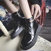 短靴 秋季韓版新款百搭小皮鞋女學院風低幫平底短靴女厚底靴子