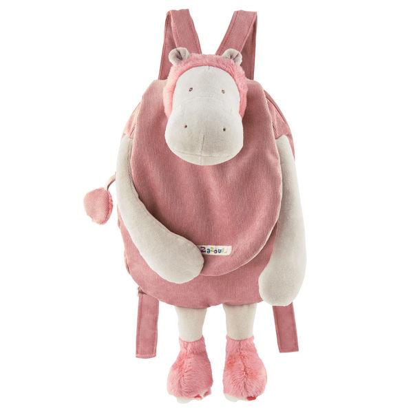 後背包 法國 Moulin Roty Zazous 粉紅河馬背包