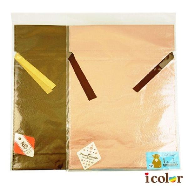 i color 亮面不織布禮物包裝束口袋(L)