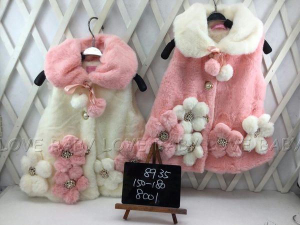 ☆╮寶貝丹童裝╭☆ 簡單 貴婦 棉絨 立體 小花 素面 圖案 女童 背心 新款 現貨 ☆