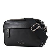 美國正品 COACH 男款  新款素面全皮革斜背相機包-黑色【現貨】