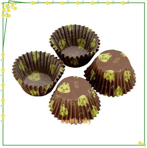 廚房【asdfkitty】貝印奇奇蒂蒂巧克力包裝咖啡色紙杯-40入-裝糖果.手工皂.小蛋糕-日本製