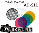 【EC數位】GODOX AD-360 AD-180 閃光燈 AD-S11 濾色片 蜂巢網 網隔罩 ADS11 AD360 AD180
