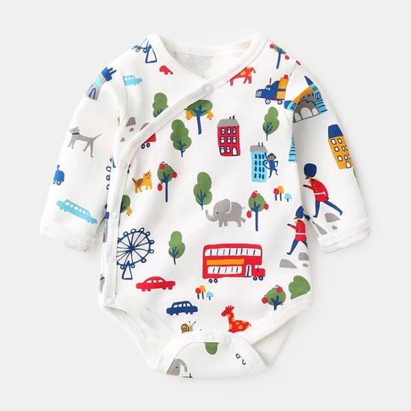 嬰兒衣服長袖包屁衣0歲女寶寶連身衣3-6個月