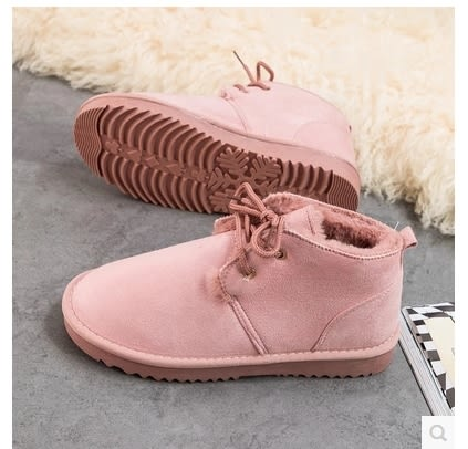 小鄧子2017秋冬季新款雪地靴加絨保暖棉鞋女學生韓版短靴靴子平底馬丁靴
