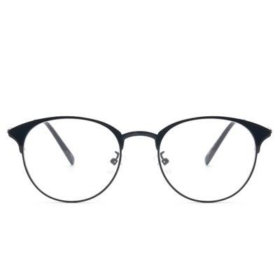 鏡架(橢圓框)-文藝復古韓版金屬男女平光眼鏡5色73oe26[巴黎精品]