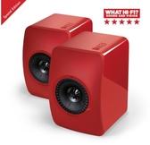 《名展影音》☆╮ 英國 KEF LS50 旗艦Hi-Fi小型精巧監聽揚聲器喇叭 公司貨(紅色)