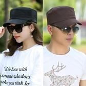 夏季新品韓版新款平頂帽時尚棒球帽純棉軍帽遮陽帽戶外帽子男女士