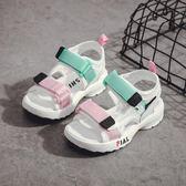 【全館】82折女童涼鞋新款小公主正韓男童鞋子夏季寶寶軟底兒童沙灘鞋防滑中秋佳節