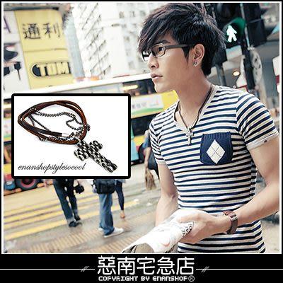 惡南宅急店【7291A】現貨不用等‧香港帶回『層次雙鍊混搭』項鍊‧品味不可取代