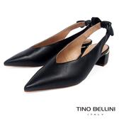 Tino Bellini巴西進口微甜扭結後拉帶中跟鞋_黑 TF8525 歐洲進口款