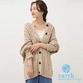 ❖ Autumn ❖ 立體球球拼接麻花辮針織罩衫外套 - earth music&ecology