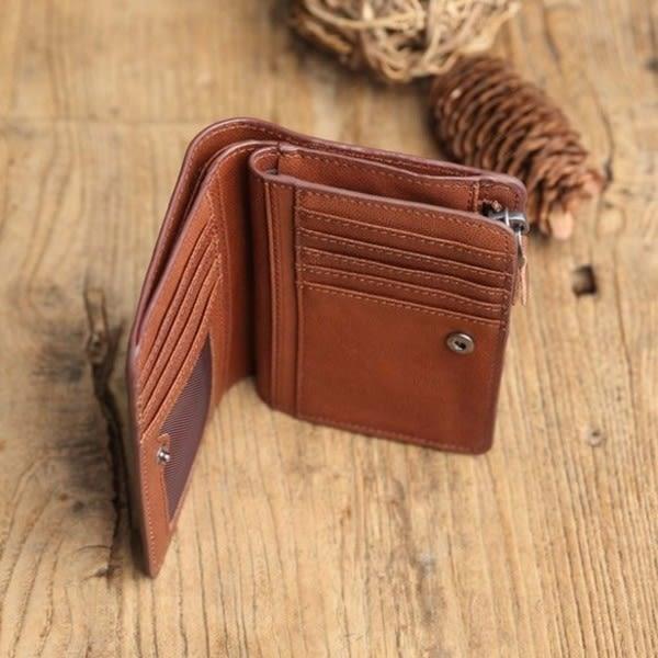 【Solomon 原創設計皮件】菸嗓 皮革 短夾 零錢包 皮夾