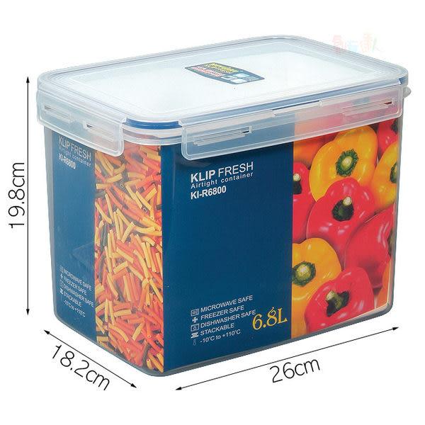《真心良品》長型保鮮密封盒6800ml(6入)