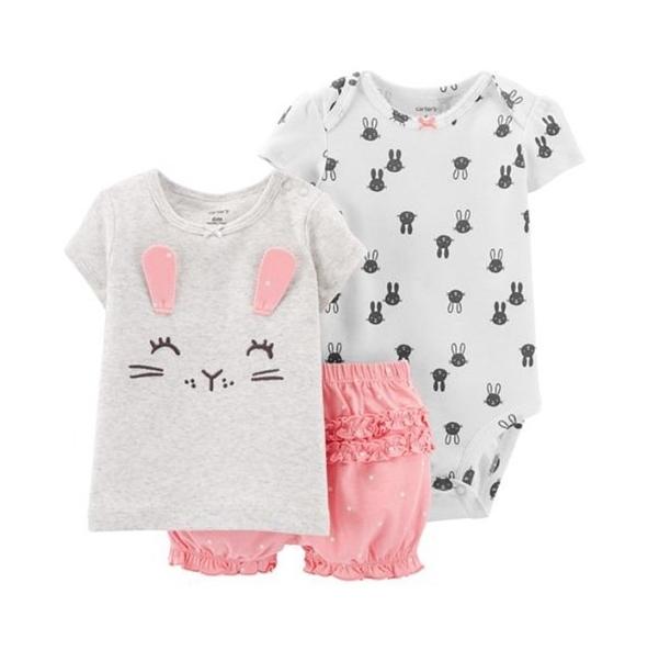 Carter's 套裝三件組 - 微笑小兔 16736910