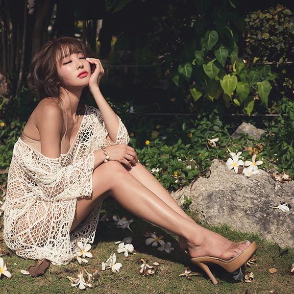 【現貨】梨卡 - 自然愛【比基尼專用】【防曬顯瘦遮肚肚】針織罩衫C119