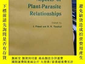 二手書博民逛書店英文版罕見Biochemical Aspects of Plant-Parasite Relationships