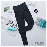 Catworld 後交叉高腰彈力運動褲【12001808】‧S/M/L/XL