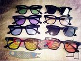 韓國復古彩色透明太陽眼鏡小方框墨鏡男女太陽鏡【奇貨居】