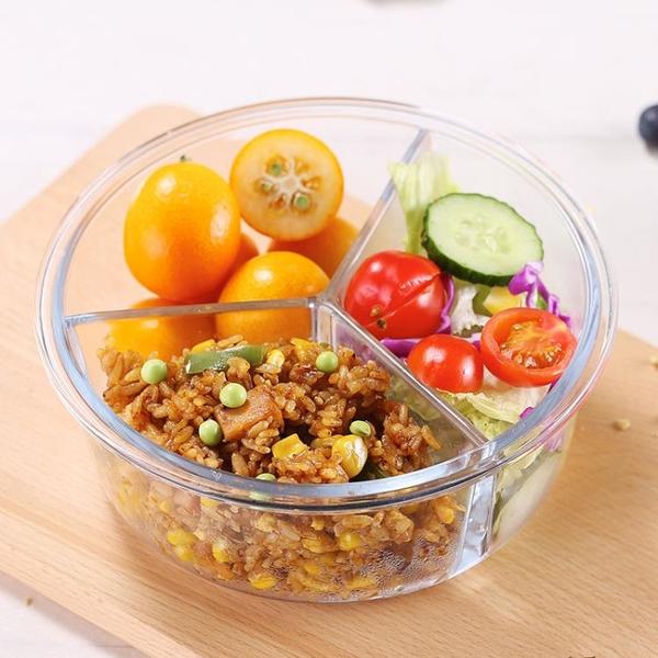 微波爐加熱飯盒分隔型玻璃保鮮便當餐盒套裝上班族學生專用碗日式 【618特惠】