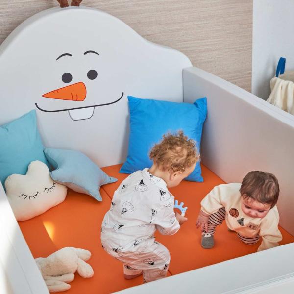 【買就送】韓國 ALZIPMAT & DISNEY 迪士尼聯名輕傢俬系列-多功能圍欄地墊-加大款 雪寶