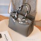 歐美大氣時尚女士包包2020新款潮韓版百搭斜挎包氣質手提包凱莉包【美眉新品】