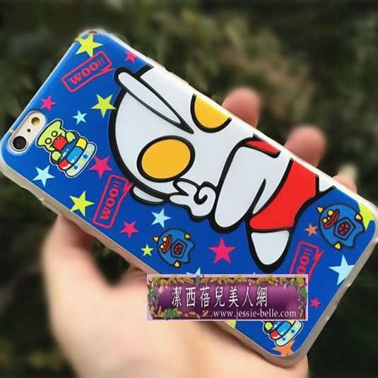 超人《奧特曼》系列iphone6S/6S Plus 5.5寸立體彩雕TPU軟殼 -upcu0030026