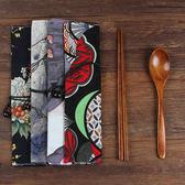 日式木質筷子勺子套裝戶外旅行成人便攜餐具三件套木勺小禮品刻字