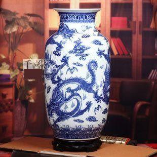 景德鎮陶瓷器青花瓷大花瓶