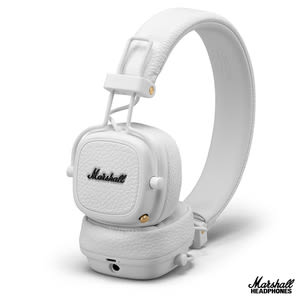 英國Marshall Major III  無線藍牙耳罩式耳機~奶油白奶油白