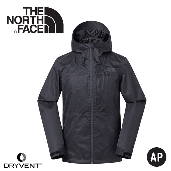 【The North Face 美國 男 DryVent刷毛兩件式防水外套《黑》】3V9B/夾克/防風外套/刷毛外套/防水外套