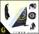 ES數位館 攝影棚 E27 冷光燈 持續燈  陶瓷 單燈頭 50X70CM  快拆式 柔光箱 無影罩 單燈無影罩組