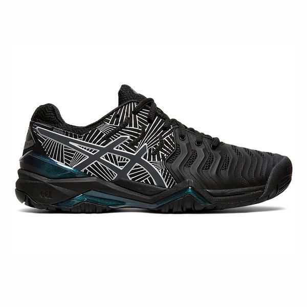 Asics GEL-Resolution 7 L.E. [1042A092-001] 女 網球鞋 避震 穩定 包覆 黑銀