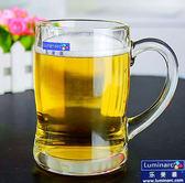 啤酒杯 玻璃杯帶把杯扎啤杯啤酒杯 耐熱茶杯家用創意牛奶杯杯子啤酒杯【1件免運好康八九折】