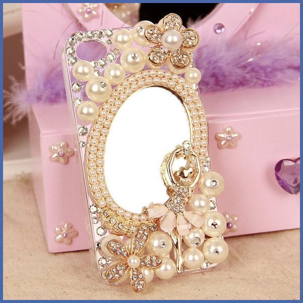 OPPO Reno5 pro Reno4 Z Find X2 A73 5G A53 A72 A91 Reno2Z 珍珠鏡子 手機殼 水鑽殼 訂製