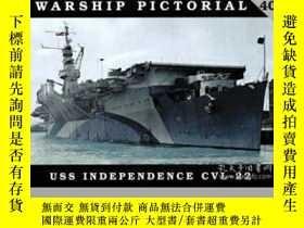 二手書博民逛書店Warship罕見pictorial 40 USS independence CVL-22-軍艦圖片40號美國獨立